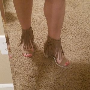 Very Volatile Fringe Sandals